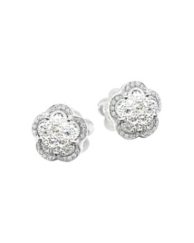 Pasquale Bruni - 18K White Gold Ton Joli - Je T'aime Diamond Flower Stud Earrings
