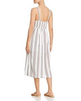 Velvet Heart - Sleeveless Striped Midi Dress
