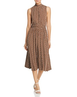 Leota - Sleeveless Dot-Print Dress