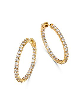 Bloomingdale's - Diamond Inside-Out Hoop Earrings in 14K Yellow Gold, 4.0 ct. t.w. - 100% Exclusive