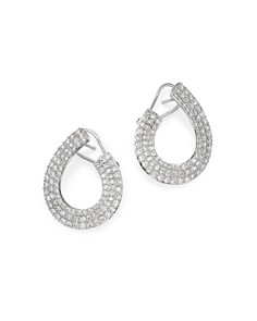 Bloomingdale's - Diamond Front-to-Back Earrings in 14K White Gold, 3.0 ct. t.w. - 100% Exclusive