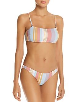 Vitamin A - Mila Bandeau Bikini Top & Giselle Hipster Bikini Bottom