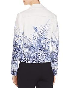 Elie Tahari - Silvia Printed Denim Jacket