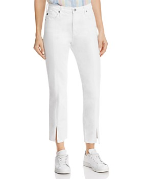 b39ad348a6d AG - Isabelle High-Rise Jeans in White ...