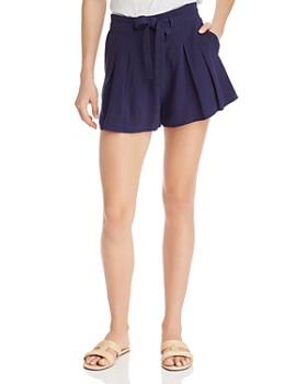 64fb53601698 AQUA - Tie-Waist Shorts - 100% Exclusive ...
