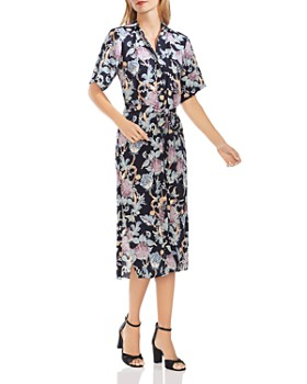VINCE CAMUTO - Poetic Blooms Midi Shirt Dress