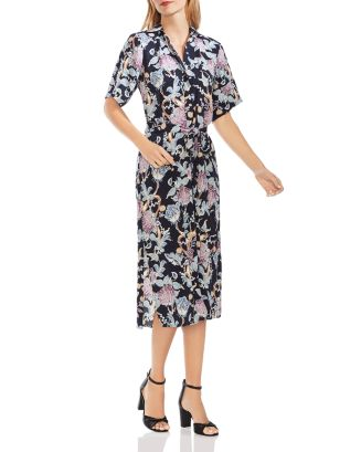 Poetic Blooms Midi Shirt Dress by Vince Camuto