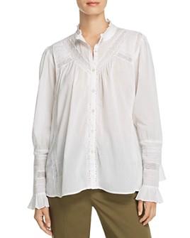 ba&sh - Heiko Lace-Inset Shirt