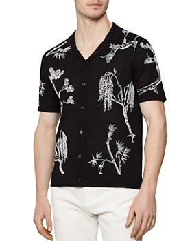 REISS - Tilgate Embroidered Regular Fit Button-Down Shirt