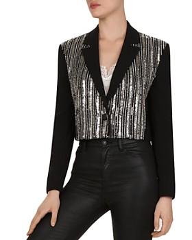 The Kooples - Marta Sequined Crepe Jacket