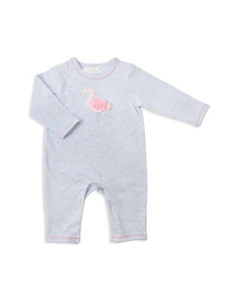 Albetta - Girls' Crochet-Flamingo Coverall - Baby
