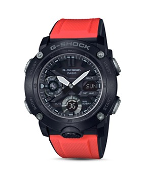 G-Shock - Analog-Digital Red Strap Watch, 48.7mm