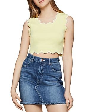 Bcbgeneration Scalloped Cropped Top