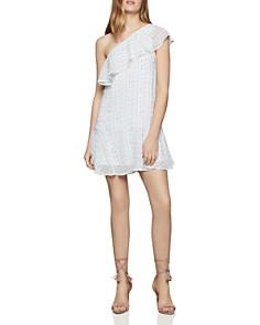 BCBGENERATION - Ruffled One-Shoulder Georgette Dress
