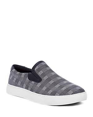 Robert Graham Sneakers MEN'S SELDON PLAID SLIP-ON SNEAKERS