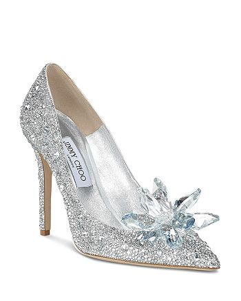 Jimmy Choo - Women's Avril 100 Crystal-Covered Pointy Toe Pumps