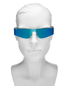 Balenciaga - Women's Mirrored Slim Shield Sunglasses, 99mm