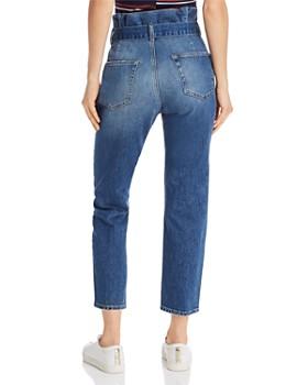 FRAME - Paperbag-Waist Belted Tapered Jeans in Myrtle