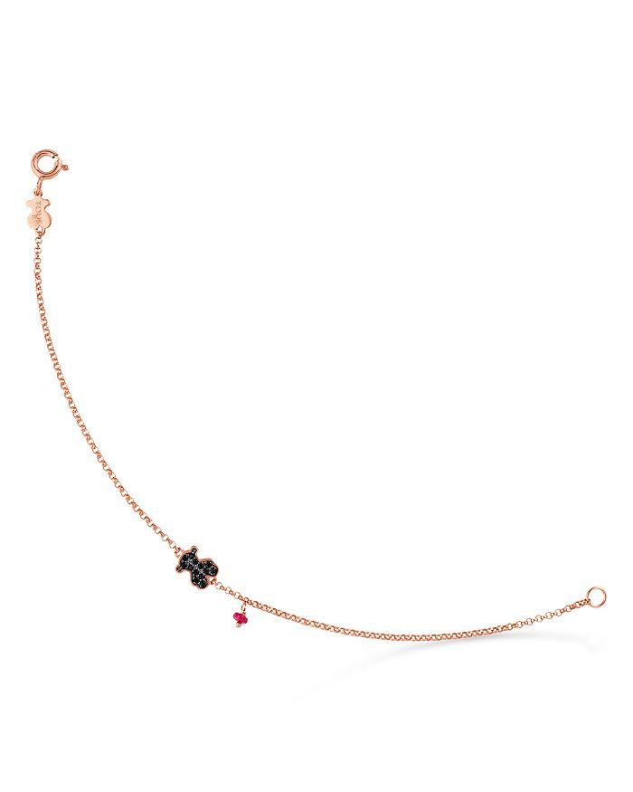 TOUS - 18K Rose Gold-Plated Sterling Silver Bear Ruby & Spinel Bracelet