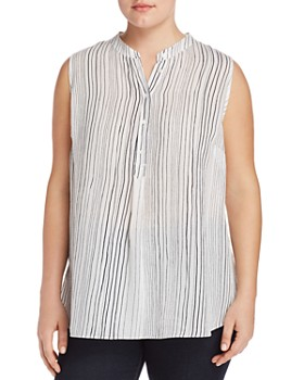 VINCE CAMUTO Plus - Delicate Strands Printed Top