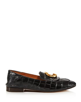 Chloé - Women's C Flat Leather Loafers
