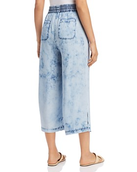 Billy T - Tie-Dyed Wide-Leg Cropped Pants