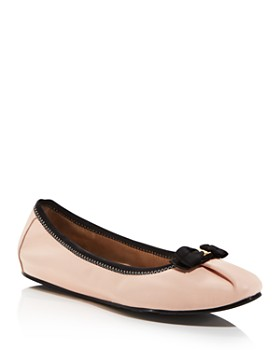 6fb70b7edb0 Salvatore Ferragamo - Women s My Joy Leather Ballet Flats ...