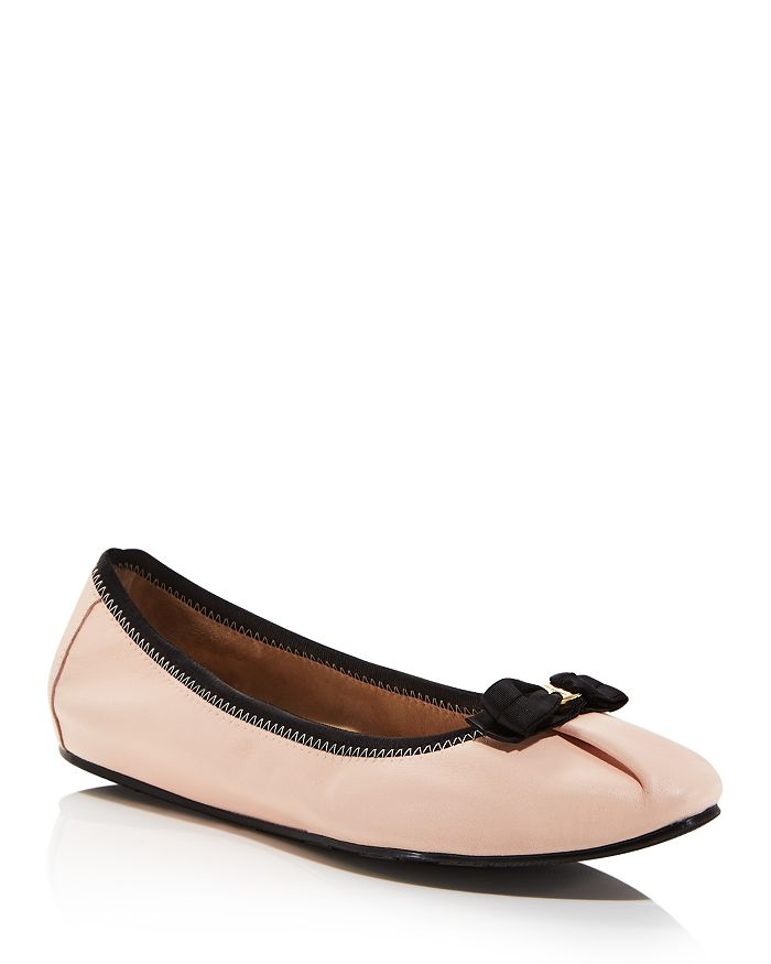 e375bd576 Salvatore Ferragamo Women's My Joy Leather Ballet Flats | Bloomingdale's