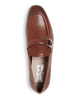 Salvatore Ferragamo - Men's Tweed Leather Apron-Toe Loafers