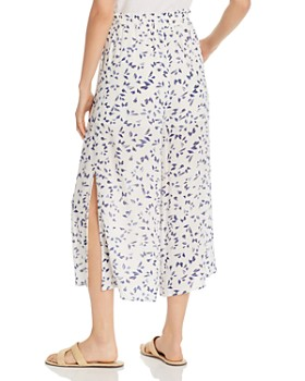 Lost and Wander - Rain Printed Wide-Leg Cropped Pants