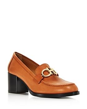 Salvatore Ferragamo - Women's Rolo Moc-Toe Block-Heel Loafers