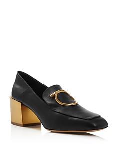 Salvatore Ferragamo - Women's Lana Block-Heel Loafers