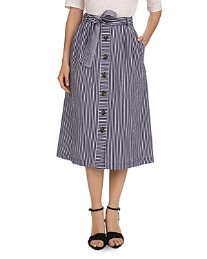 Gerard Darel Ivona Striped Button-Front Skirt