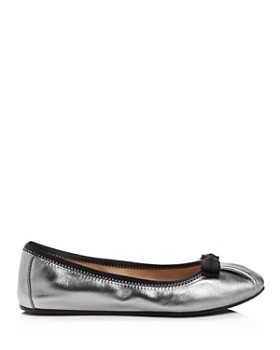 Salvatore Ferragamo - Women's My Joy Metallic Leather Ballet Flats - 100% Exclusive
