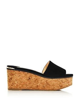 Jimmy Choo - Women's Deedee Suede Platform Sandals