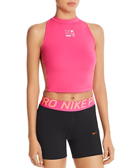 Nike - Pro Color-Block Cropped Tank