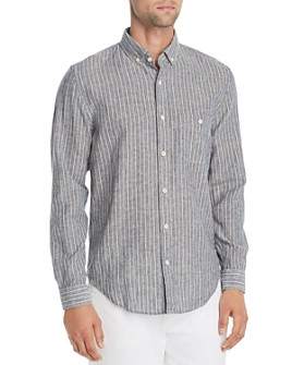 7 For All Mankind - New Icon Striped Regular Fit Button-Down Shirt
