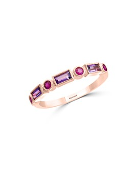 Bloomingdale's - Amethyst & Ruby Ring in 14K Rose Gold - 100% Exclusive