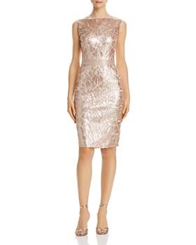 Tadashi Petites - Color-Blocked Sequin Sheath Dress