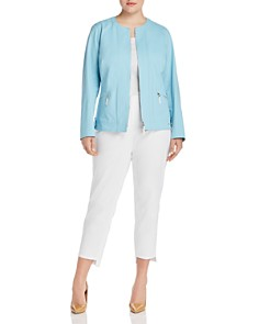 Lafayette 148 New York Plus - Cairo Cropped Zip-Front Jacket