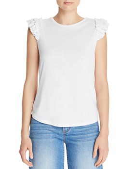 Generation Love - Morgan Beaded Ruffle-Sleeve Tee