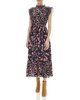 097c2a2f0ae7 Sandro - Bouna Sleeveless Floral-Print Midi Dress ...