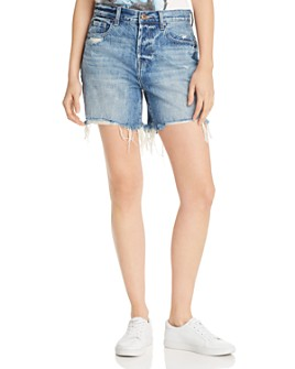 Pistola - Devin Mom Cutoff Denim Shorts in Open Blue