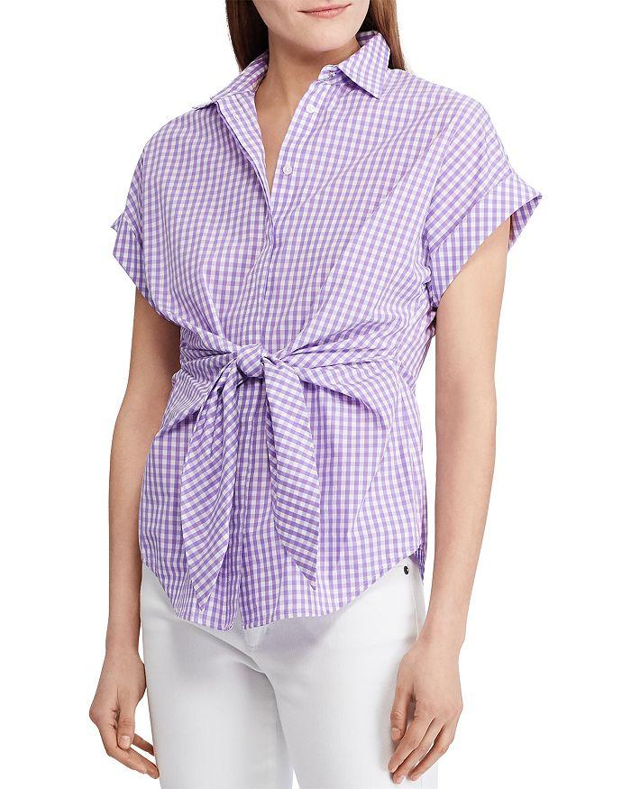 Ralph Lauren - Tie-Front Gingham Shirt - 100% Exclusive