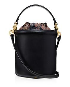 COACH - Medium Drawstring Leather Bucket Bag