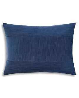 "ED Ellen Degeneres - Blue Pieced Strie Velvet Decorative Pillow, 12"" x 16"""