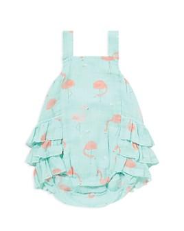 Angel Dear - Girls' Flamingo Print Bubble Romper - Baby
