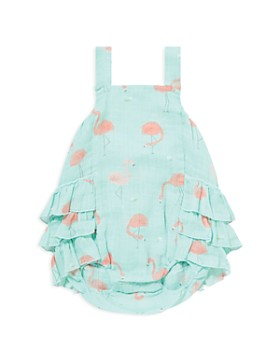 Angel Dear - Girls' Flamingo Print Bubble Romper - Baby