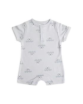 Tun Tun - Unisex Seal Print Short-Sleeve Romper - Baby