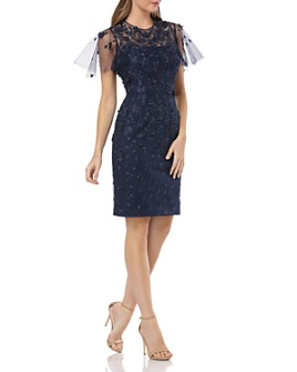 Carmen Marc Valvo Infusion - Floral Embellished Dress